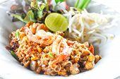Постер, плакат: Fried Noodle Thai Style With Prawns Pad Thai fried Noodle thai Stir fried Noodles Stir fried Noodl