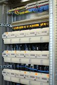picture of busbar  - new control panel with static energy meters