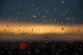 Sunset On Rainy Day. poster