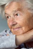 image of senior-citizen  - portrait of a senior woman ninety year old - JPG