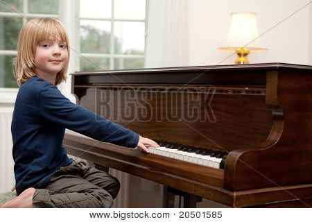Playing Piano, Boy Child Instrument