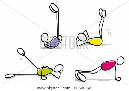 funny guys doing physical exercise