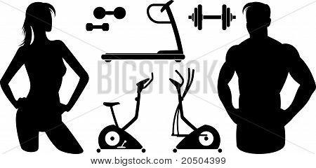 Fitness - Gym equipment (Vector)