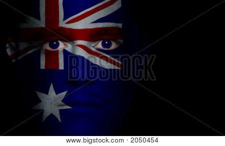 Australian Flag - Male Face