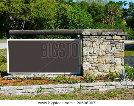 Blank Brown Sign