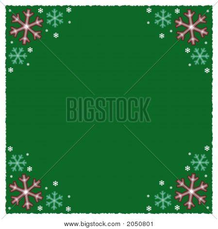 Green Snowflake Winter Background