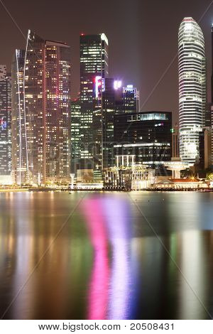 Singapore City Nightscape