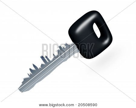 Car Key With City Profile