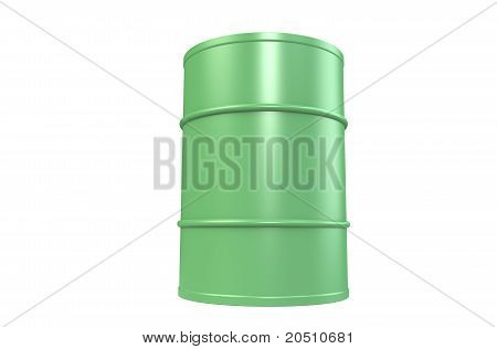 Oil Drum, Green Copy Space