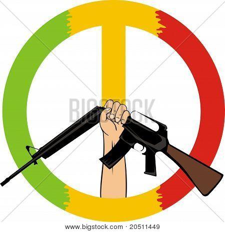 Stop the war - peace symbol