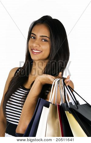 Young Indian Girl Shopping.