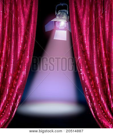 Disco Curtains Reveal Show