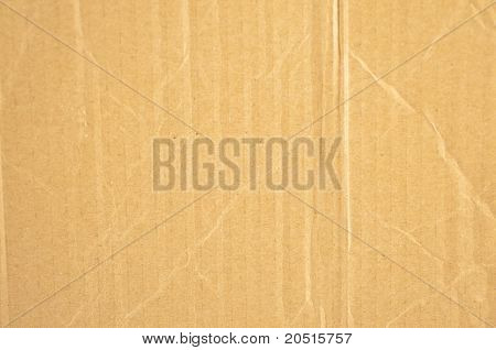 Old crinkled brown cardboard