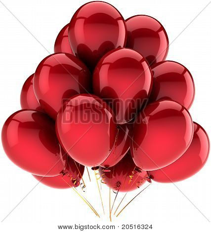 Balloons party birthday holiday red decoration