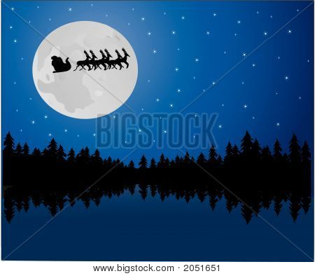 Santa In The Moonlight