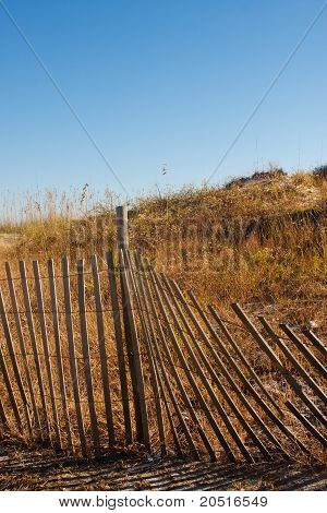 Fence By Dunes Vertical