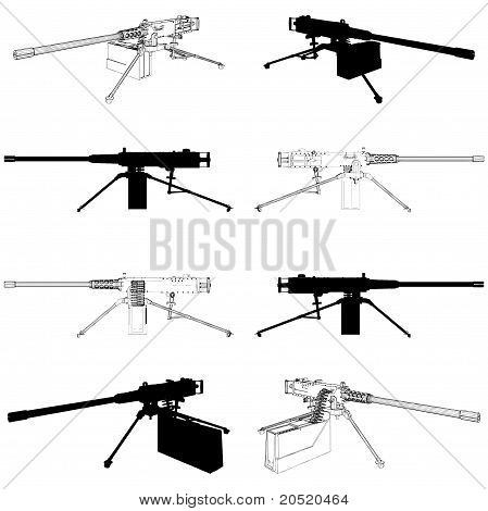 Browning Machine Gun Vector 0...