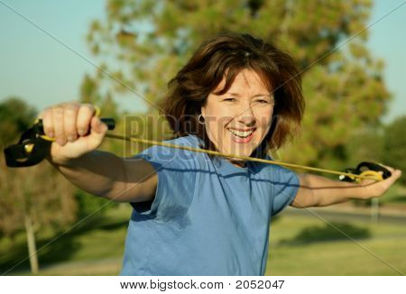 Woman Exercising Outside