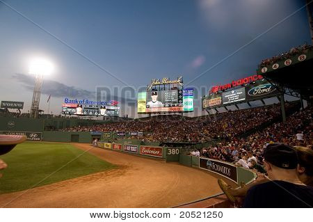 Boston - May 30: Fenway Park At Night On Memorial Day Game Against The Chicago White Sox May 30, 201