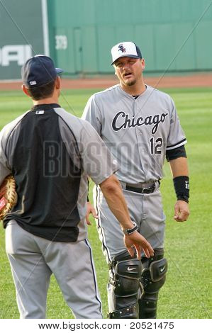 Boston - May 30: Starting Catcher A.j. Pierzynski Before Memorial Day Game Against The Red Sox On Ma