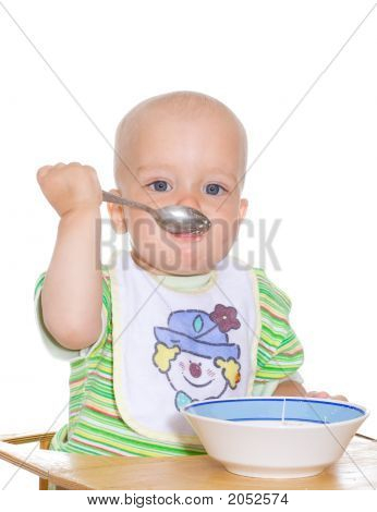 Eating Child. Isolated
