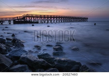 Wooden Pier Sunrise