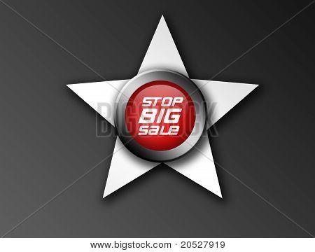 Stop Big Sale Icon