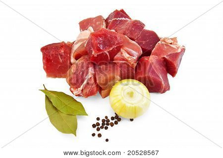 Pork With Onion And Bay Leaf