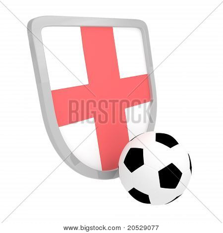 England Shield Soccer Isolated
