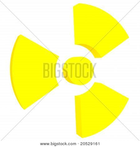 Sign Of Radiation Isolated