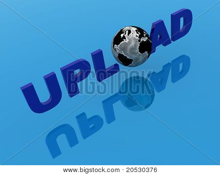 3d render word With a World Globe