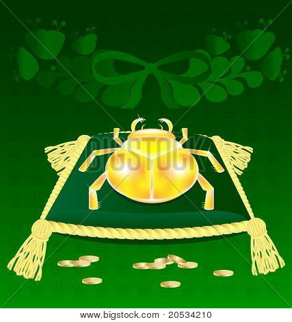 gold-bug on the pillow