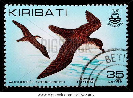 Eine 35-Cent-Briefmarke gedruckt In der Republik Kiribati