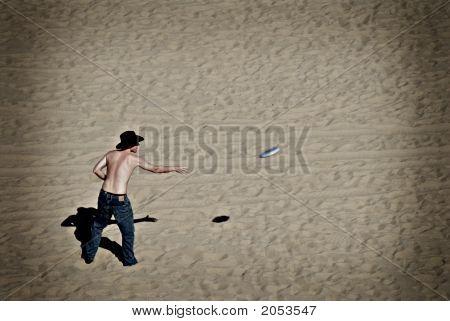 Beach Activity With Holga Film Look