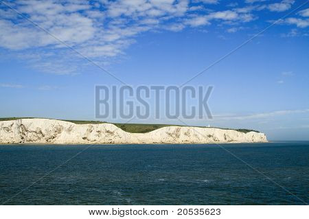 View Of White Cliffs Of Dover From The Sea