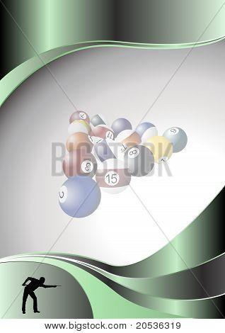 billiards metal poster