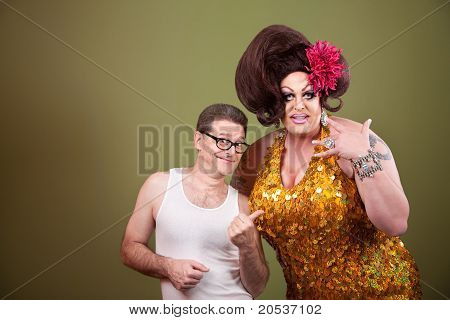 Drag Queen And Male Friend
