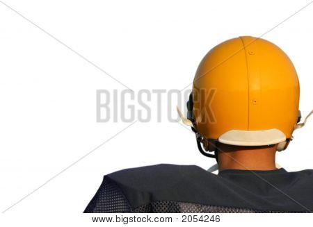 Football Player In Helmet