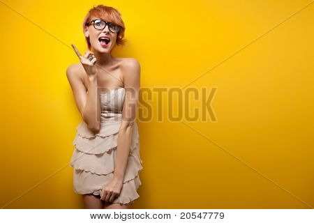 I've got an idea - Young woman
