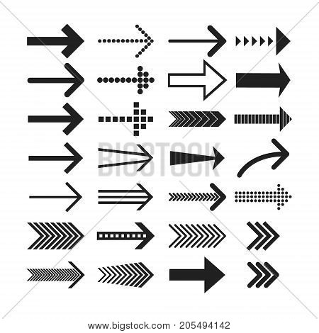 poster of Linear Arrow icons set. Universal Arrow icon to use in web and mobile UI, Arrow basic UI elements set