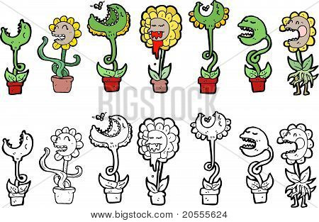 Carnivourous Plants Cartoon