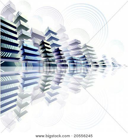 abstração urbana 3D.