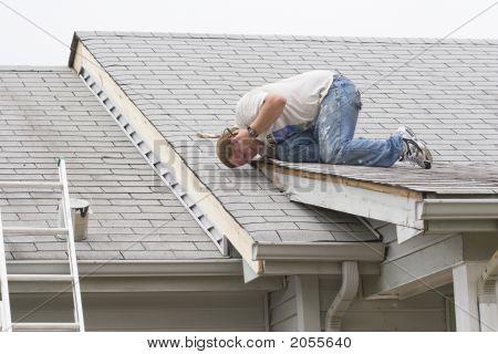 Contractors Repairing Home