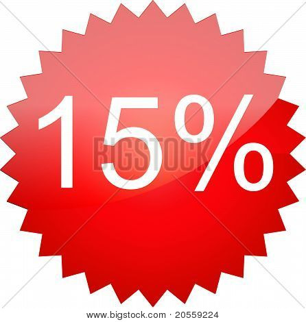The text sale 15%