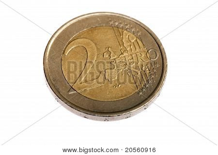 Two Euro Coin, Extreme Macro Shot
