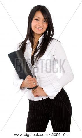 Business Woman With A Folder