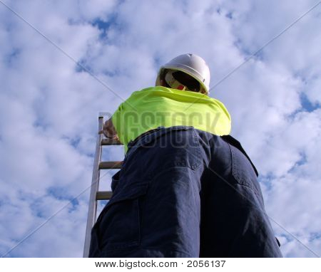 Ladder White Helmet