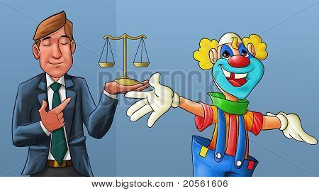 Clown And Lawyer