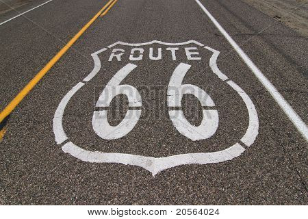 Route 66 highway marker