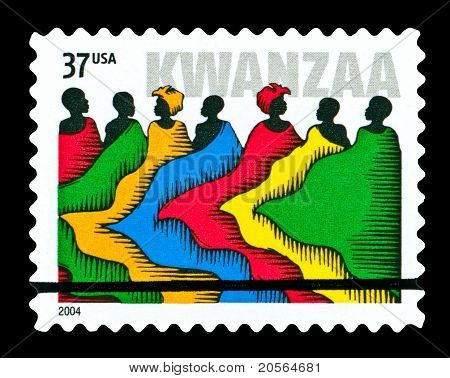Usa 2004 Kwanzaa Stamp, People In Robes.